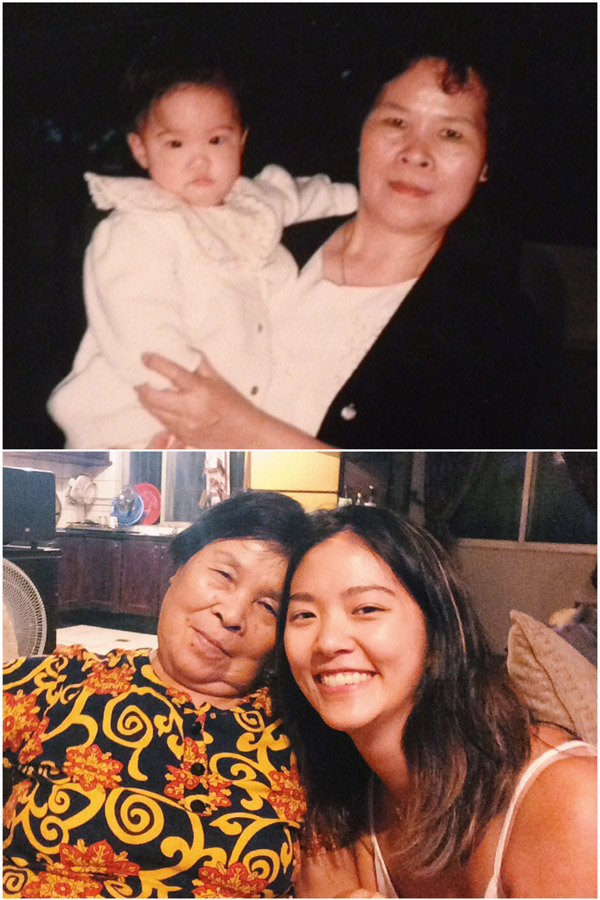 Grandma and me, then and now